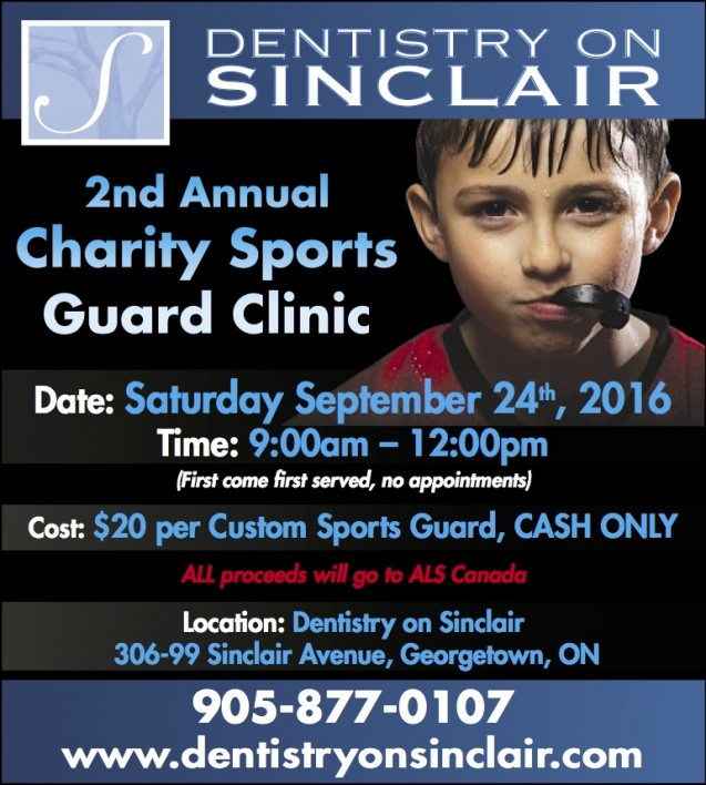 One more sleep until our Charity Custom Sports Guard Clinic!